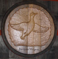 Waterfowl Wine Barrel carving by the late Earle Brown.