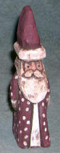 Hand Carved Santa Wood carving folk art