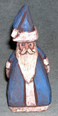 Hand Carved Santa Folk Art #686