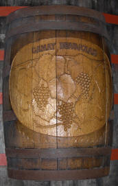 Carved Wine Barrel Side from Sebastiani Winery