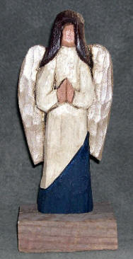 Faceless Angel Carving by Crafty Owl