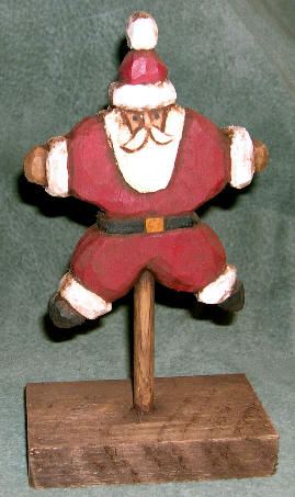Carved Basswood Santa #674 - Star Santa