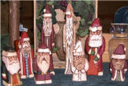 Hand Carved Santa Folk Art