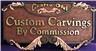 custom hand carved sign - custom carvings by commission