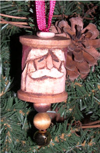 Carved Spool Ornament by Tom Crowl
