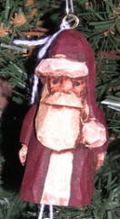 Carved Wooden Christmas Ornament - Hand carved Santas by Crafty Owl
