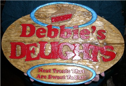 hand carved wood kitchen sign