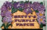 Custom Carved Garden Sign - Betty's Purple Patch
