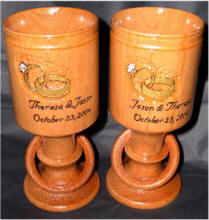 Wooden Wedding Goblets
