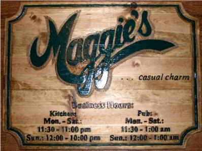 Hand Carved Commercial Sign - Pub Sign